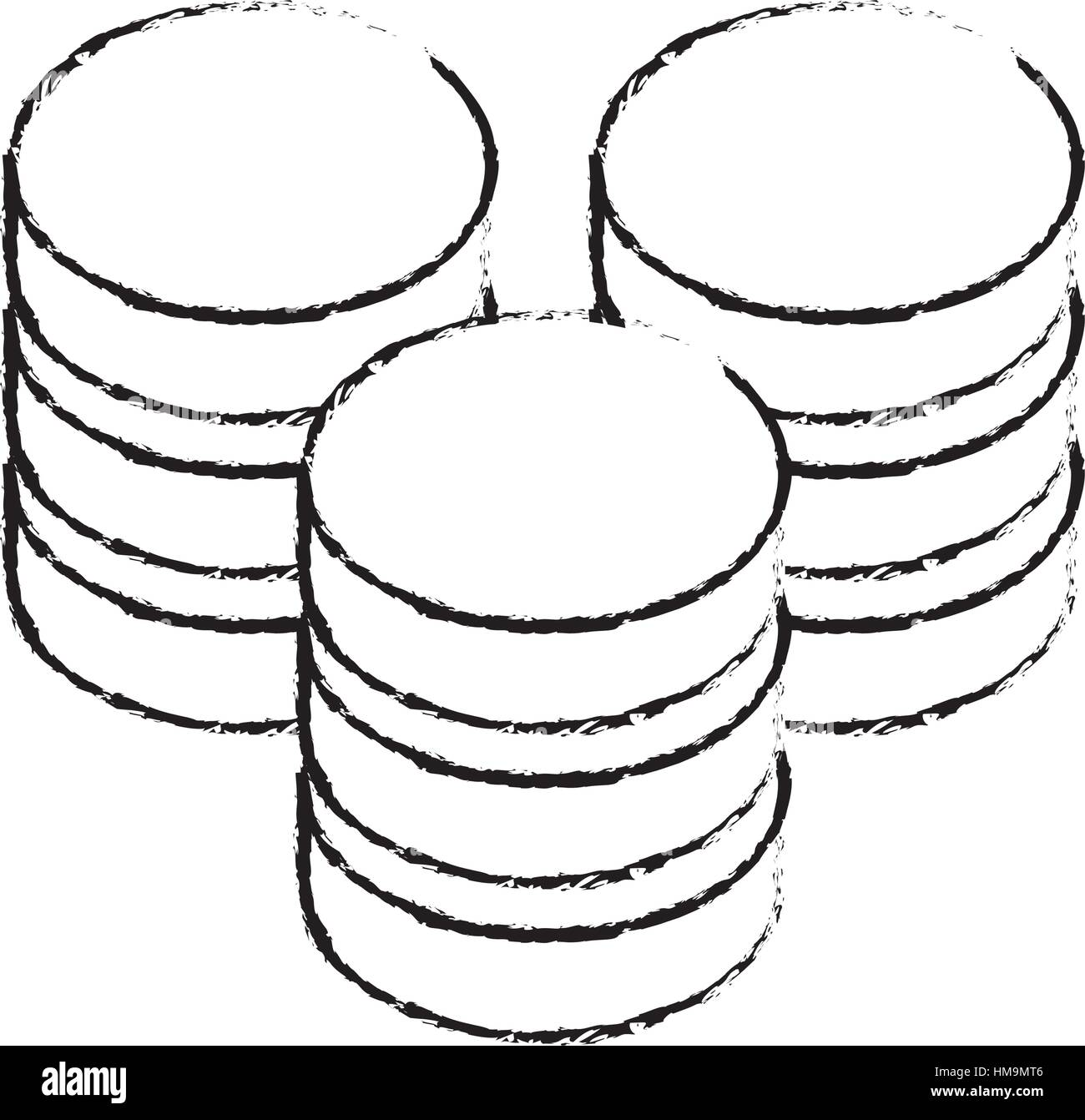 data center storage two tone button icon image vector illustration design - Stock Image