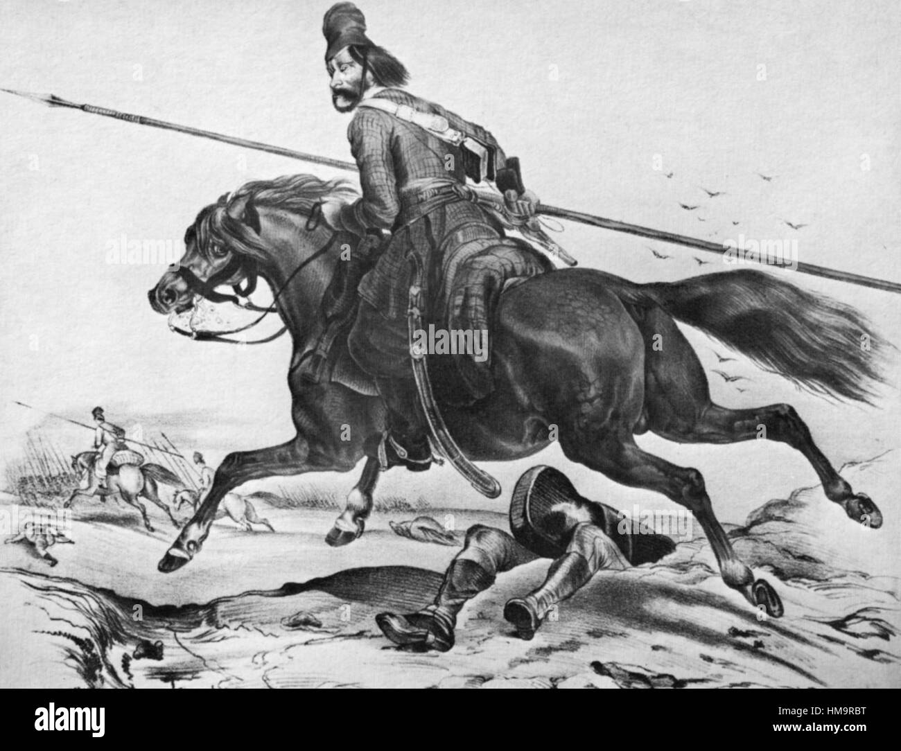 COSSACK CAVALRY about 1814 - Stock Image