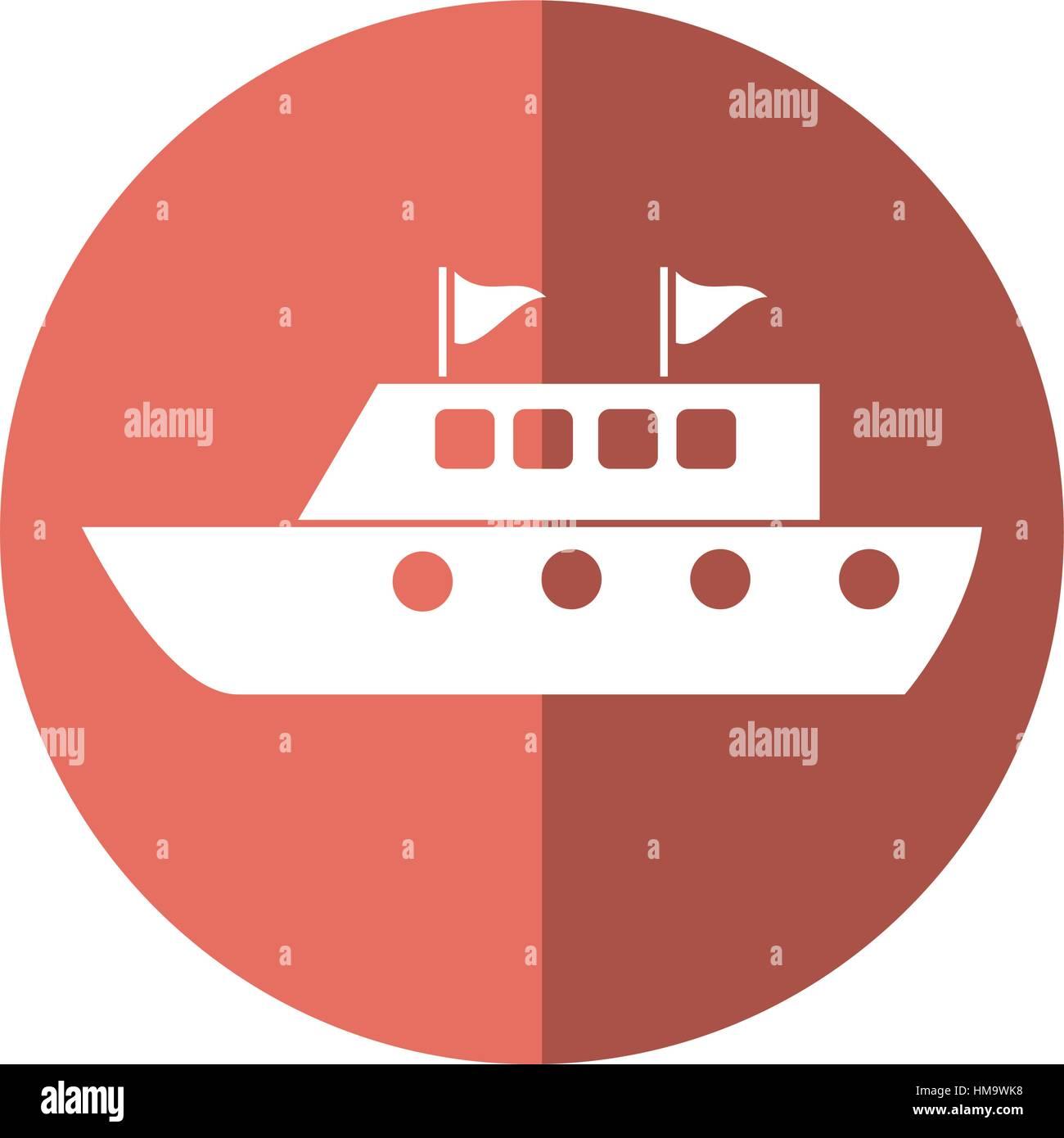 yacht luxury travel destination shadow - Stock Vector