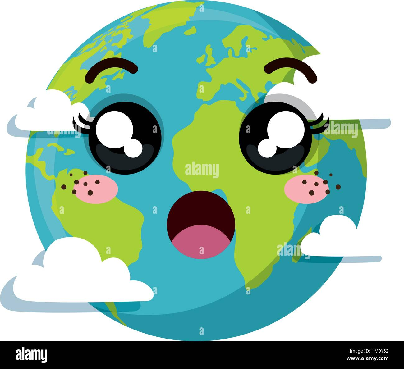 planet earth character of the solar system vector illustration rh alamy com clipart images of solar system cute solar system clip art