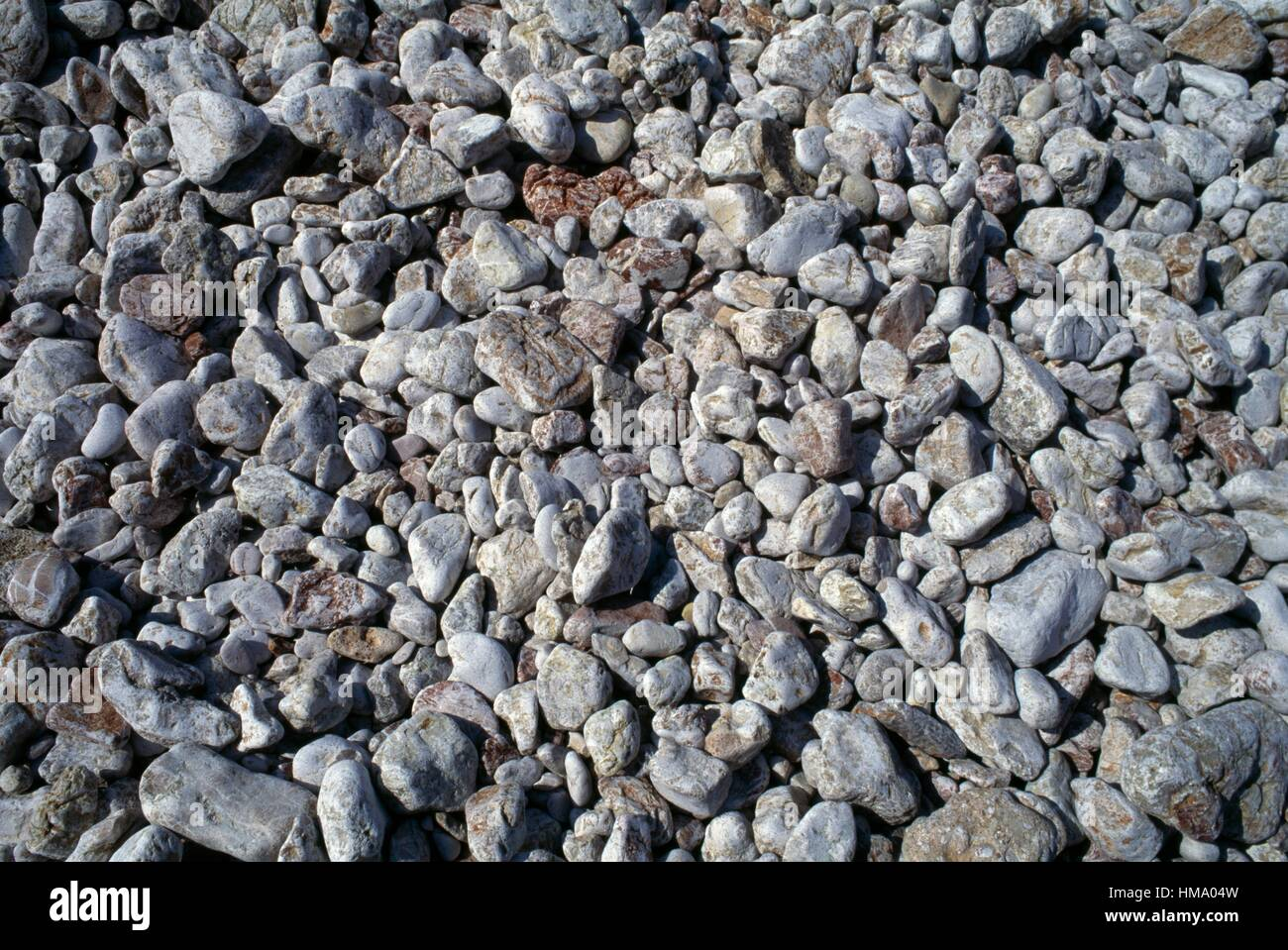 Pebbles and stones, Karpathos island, Greece. Stock Photo