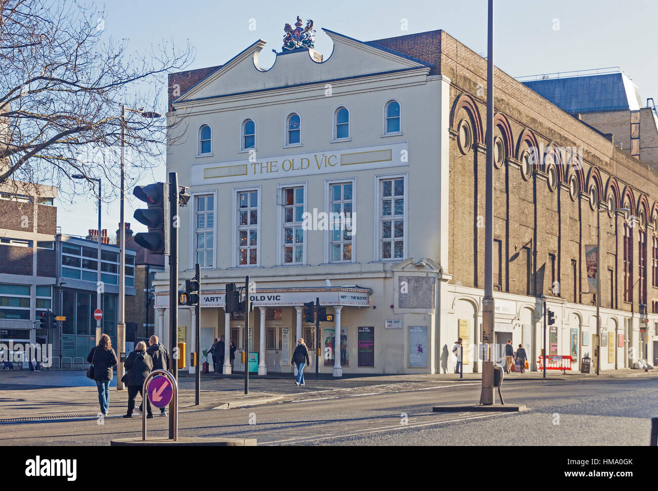London, Lambeth  The Old Vic Theatre in Waterloo Road - Stock Image