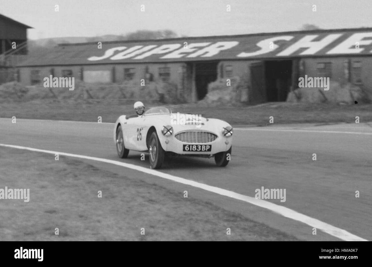Goodwood 14th March 1959 Austin - Healey 100-6 - Stock Image