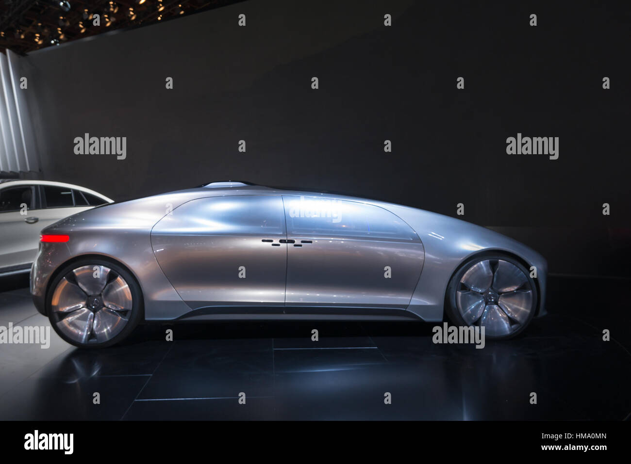 Mercedes F 015 Concept car at the North American International Auto Show (NAIAS). - Stock Image