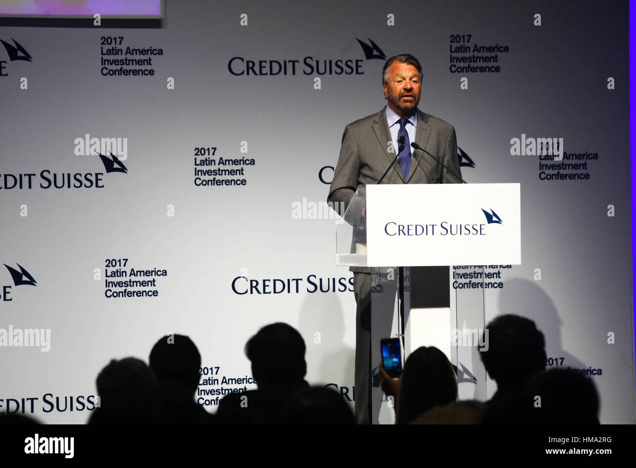 SÃO PAULO, SP - 01.02.2017: 2017 LATIN AMERICAN INVESTMENT CONFERENCE - The Minister of Foreign Affairs of Mexico Stock Photo