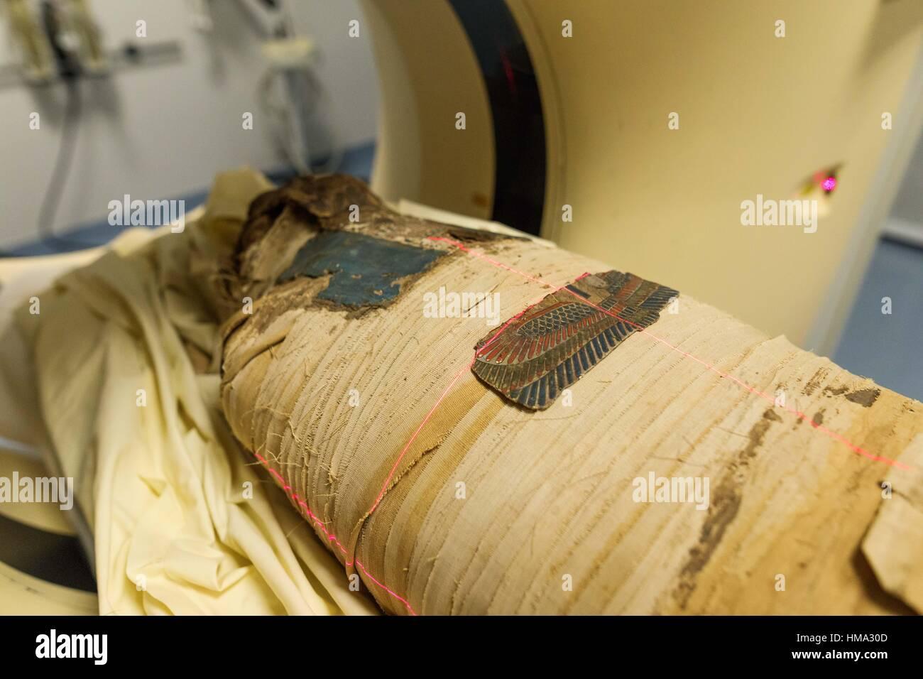 Hildesheim Germany 1st Feb 2017 An Egyptian Mummy Of The Stock