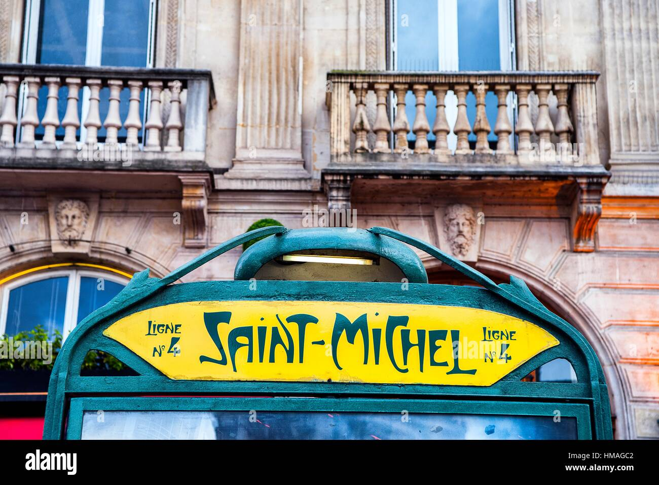 saint michel metro station paris france stock photo 132998098 alamy. Black Bedroom Furniture Sets. Home Design Ideas