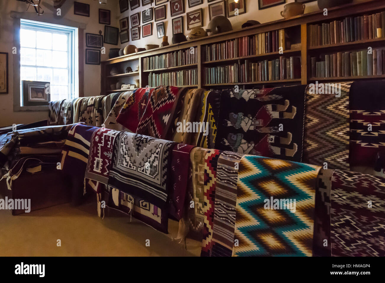 Navajo Rugs For Sale In The Trading Post Hubbell Trading Post Stock