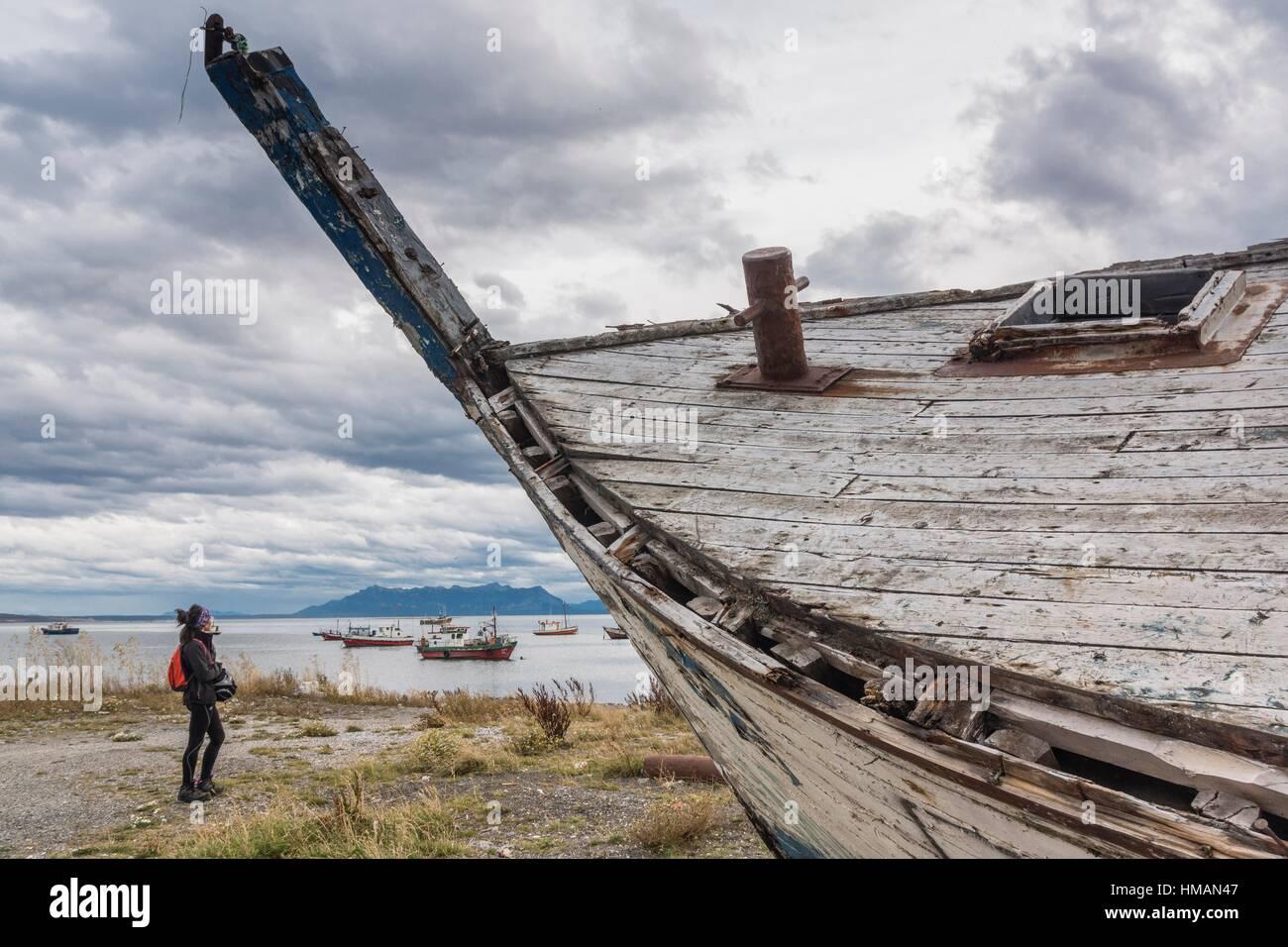 Puerto Natales, Región de Magallanes , Antártica Chilena, Patagonia, República de Chile,América - Stock Image