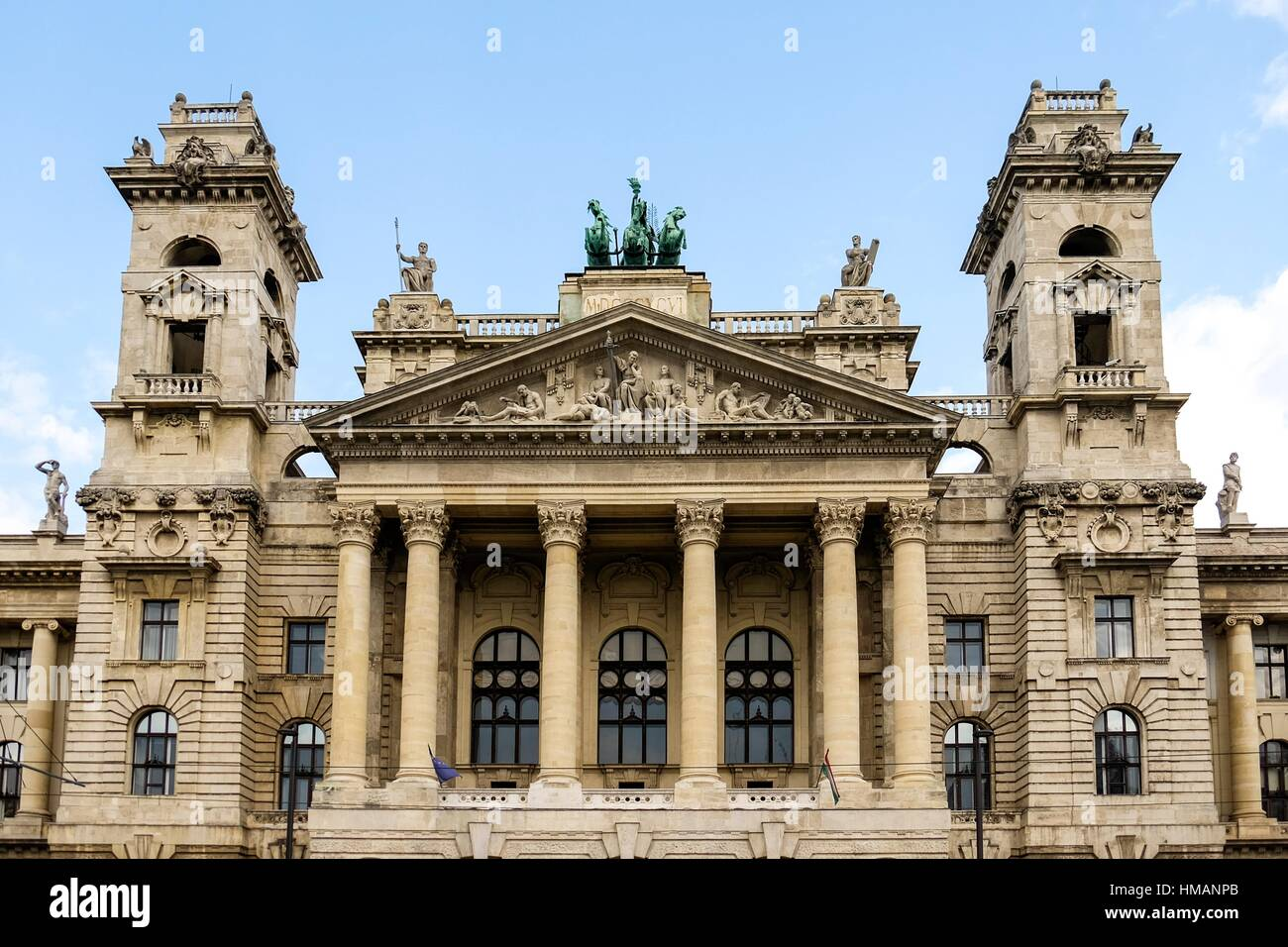 The Museum of Ethnography in Budapest features Hungarian folk traditions from different eras. - Stock Image