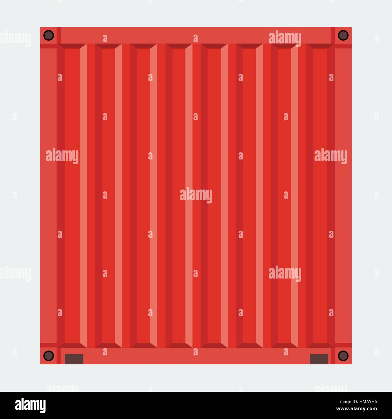 Cargo Container For Shipping With Flat Solid Color Design Red