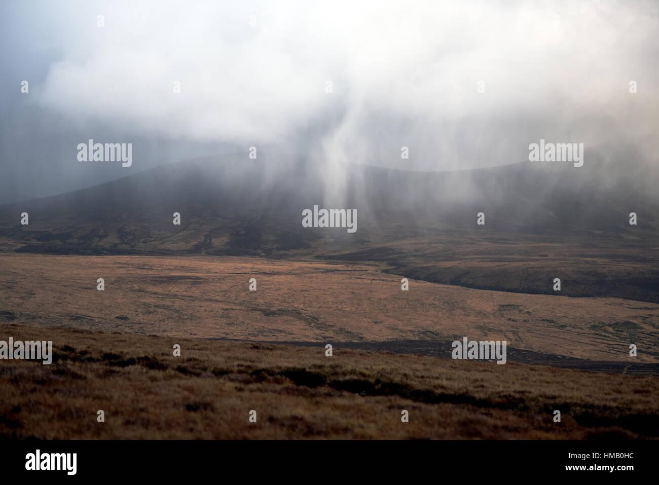 weather breakdown in Wicklow Mountains - Ireland - Stock Image