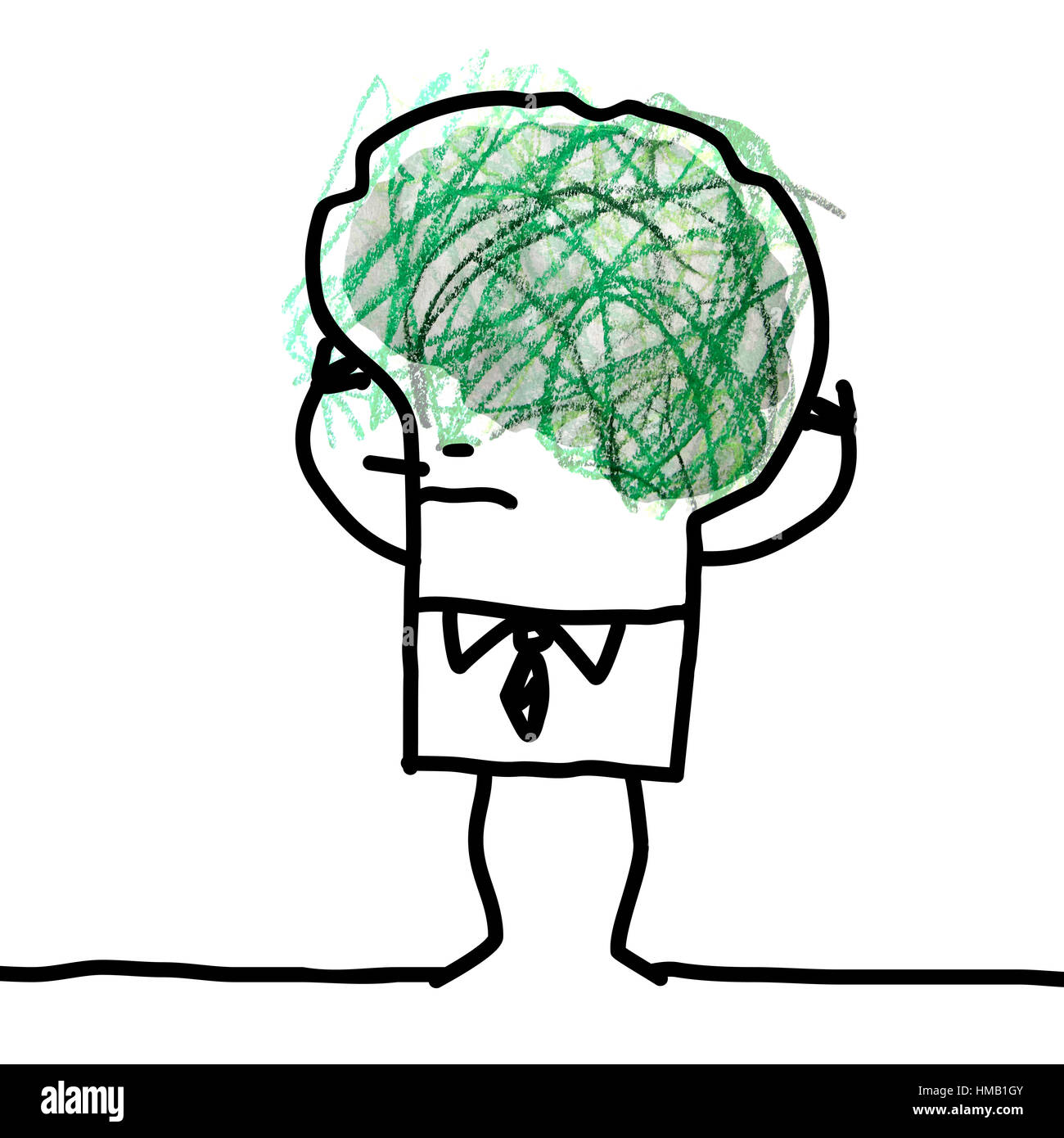 Cartoon big brain man doodle and confusion stock photo 133008427 cartoon big brain man doodle and confusion thecheapjerseys Gallery
