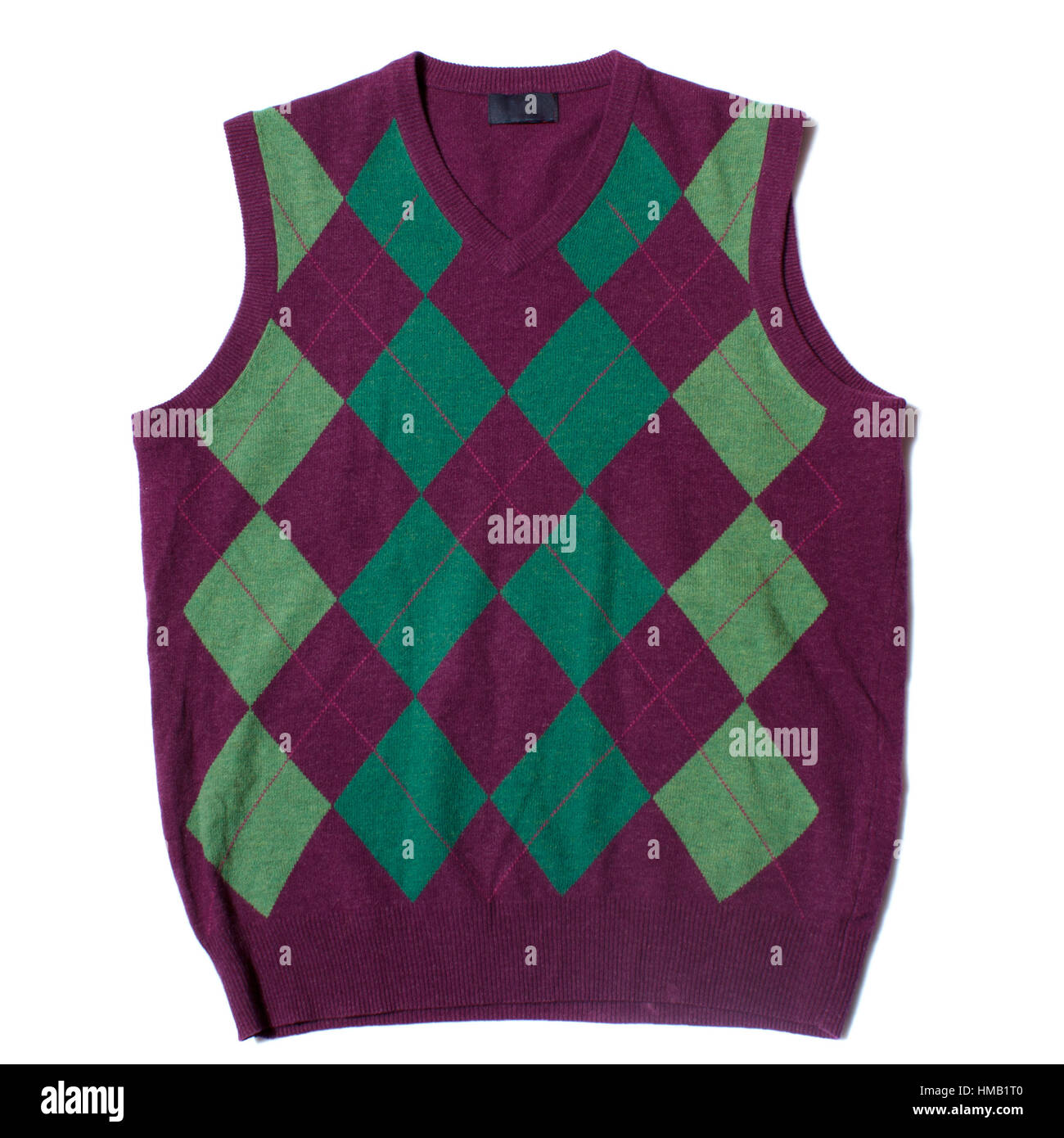 Red and green vest - Stock Image