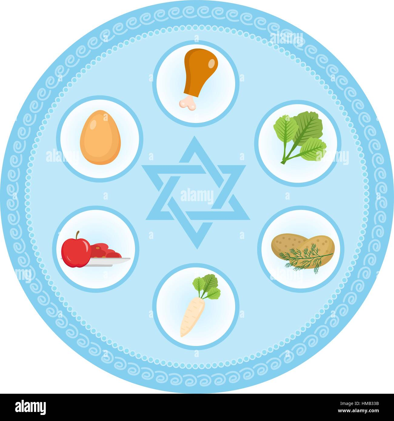 Seder Stock Vector Images Alamy