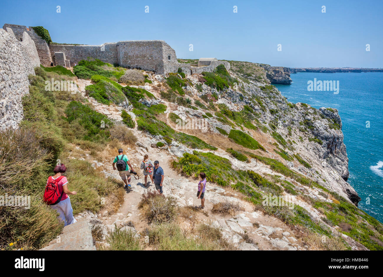 portugal algarve cabo de sao vicente ruins of the fort of san stock photo 133010422 alamy. Black Bedroom Furniture Sets. Home Design Ideas