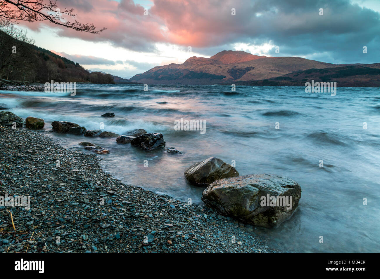 Ben Lomond from the west shore of Loch Lomond - Photographer : Brian Duffy - Stock Image