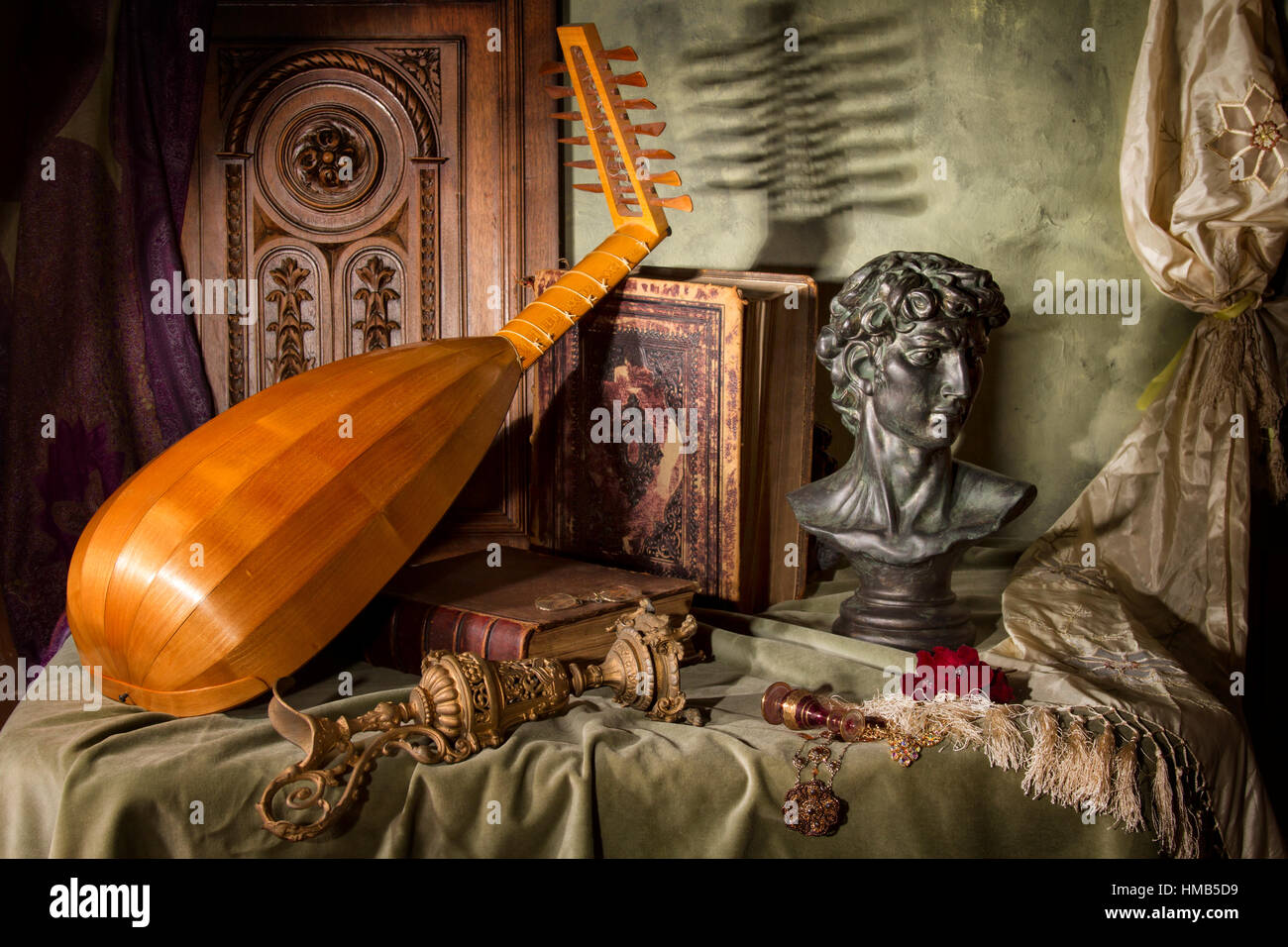 Lute & Bust Stock Photo