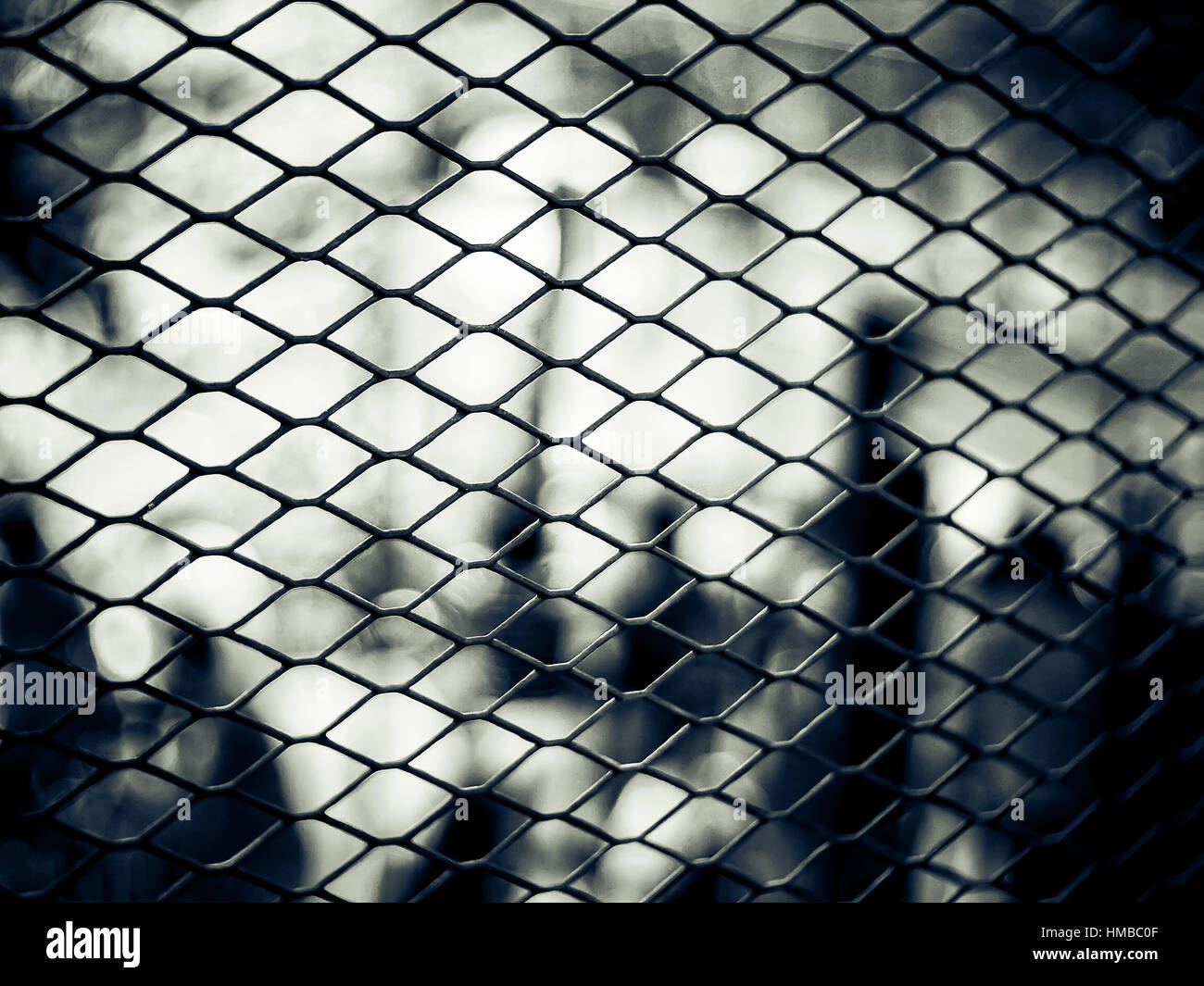 Close up of metal twist fence in black and white tone Stock Photo ...