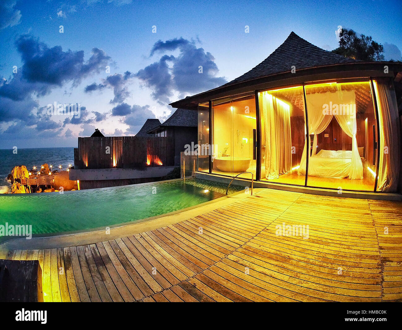 Hut at swimming pool of the luxury hotel stock photos - Hotels in yeovil with swimming pool ...