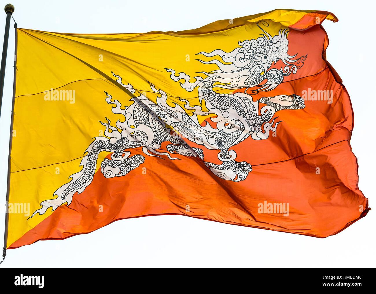 Bhutan National Flag Stock Photos Bhutan National Flag Stock