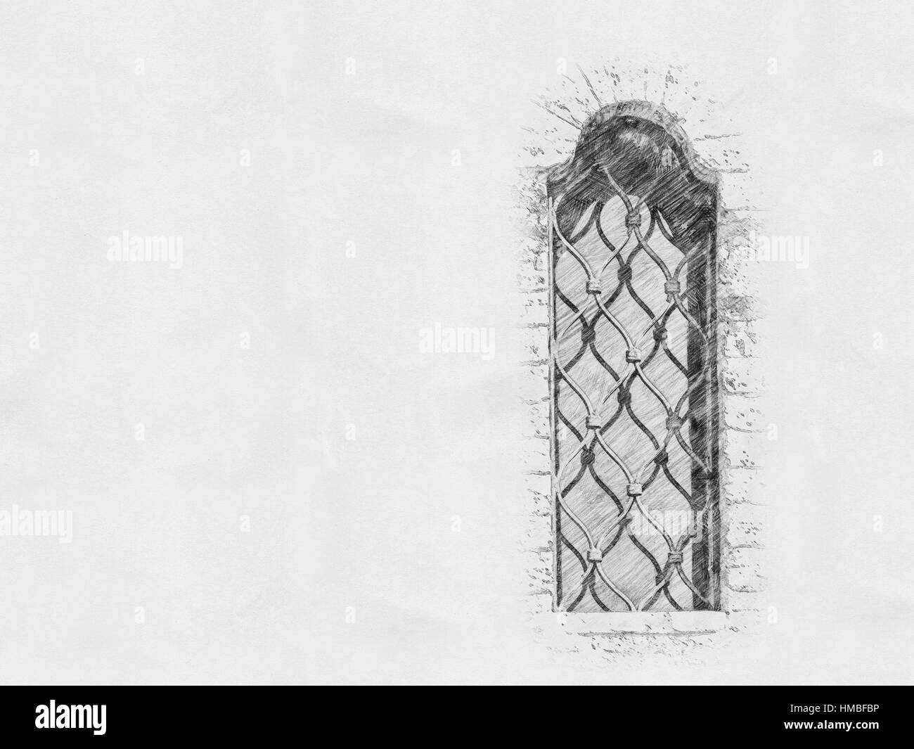 Pencil sketch building black and white stock photos images alamy old castle window crayon sketch stock image thecheapjerseys Images
