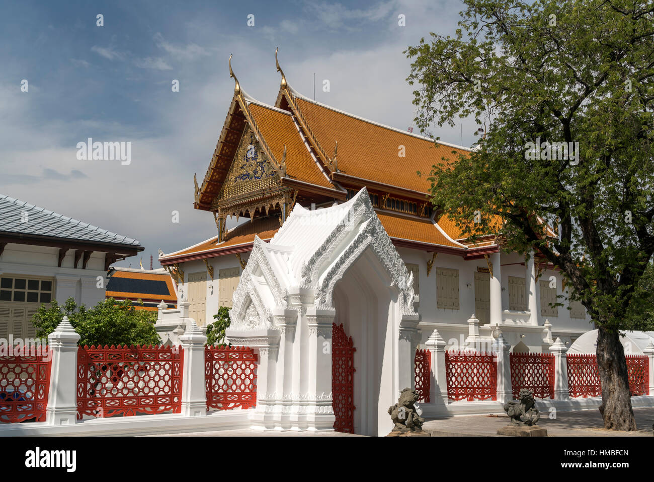 Wat Benchamabophit Dusitvanaram the marble temple, Bangkok, Thailand, Asia - Stock Image