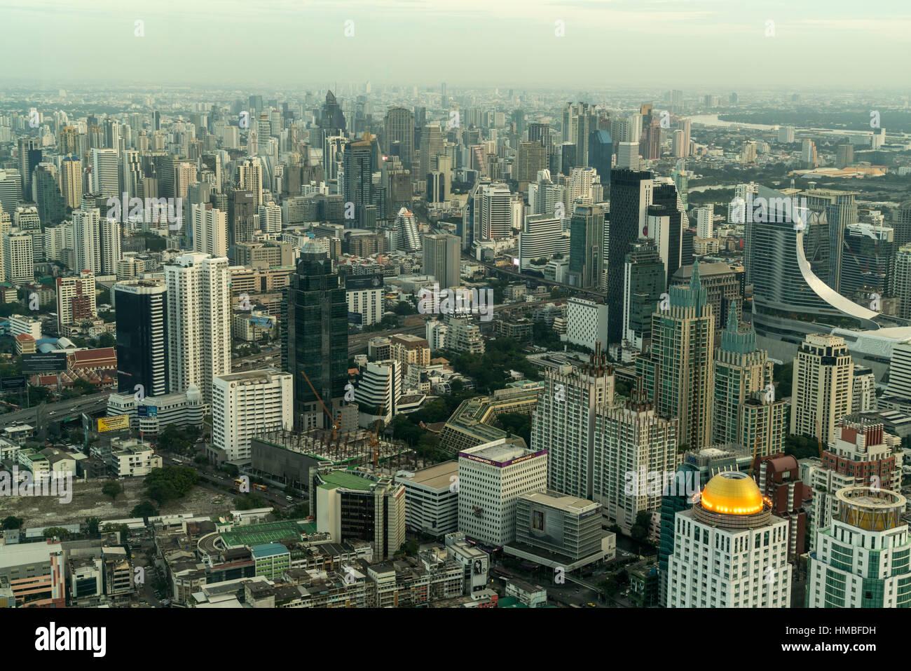 Skyline and cityscape,  Bangkok, Thailand, Asia - Stock Image