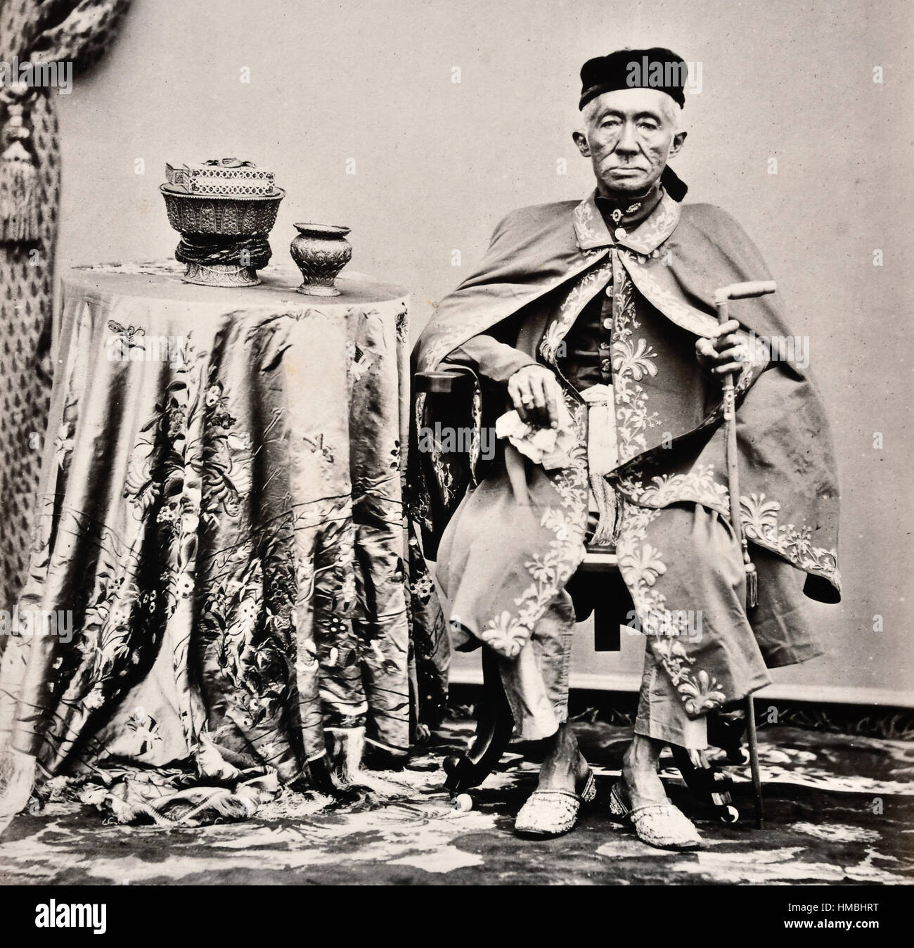 King Mongkut (1804 –1868) Rama IV  was the fourth monarch of Siam (Thailand) under the House of Chakri, ruling from - Stock Image