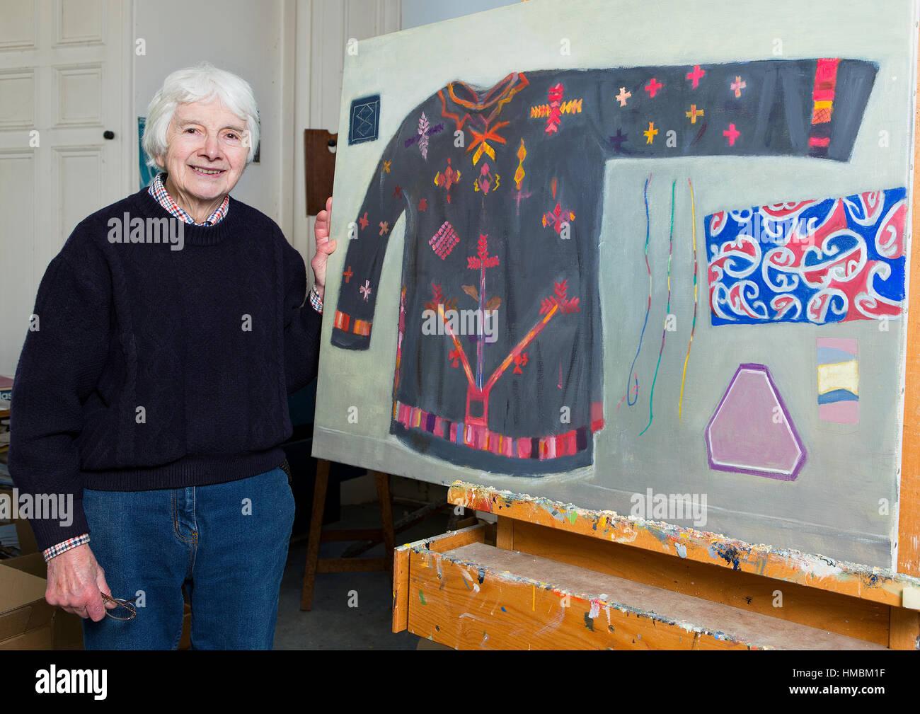 Scottish artist Dame Elizabeth Blackadder - Stock Image