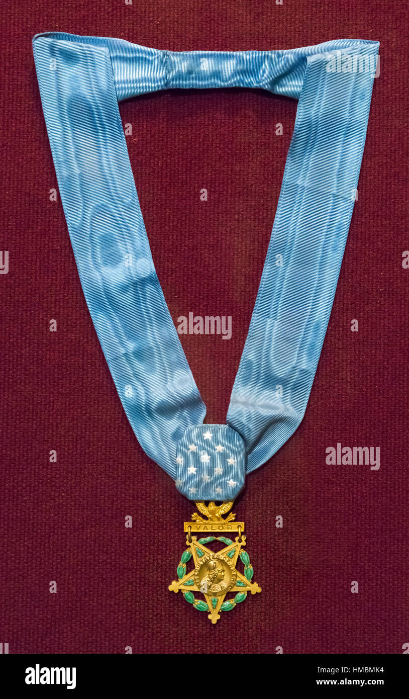 Medal of Honor. The army version of the United States (Congressional) Medal of Honor, West Point Museum, United - Stock Image