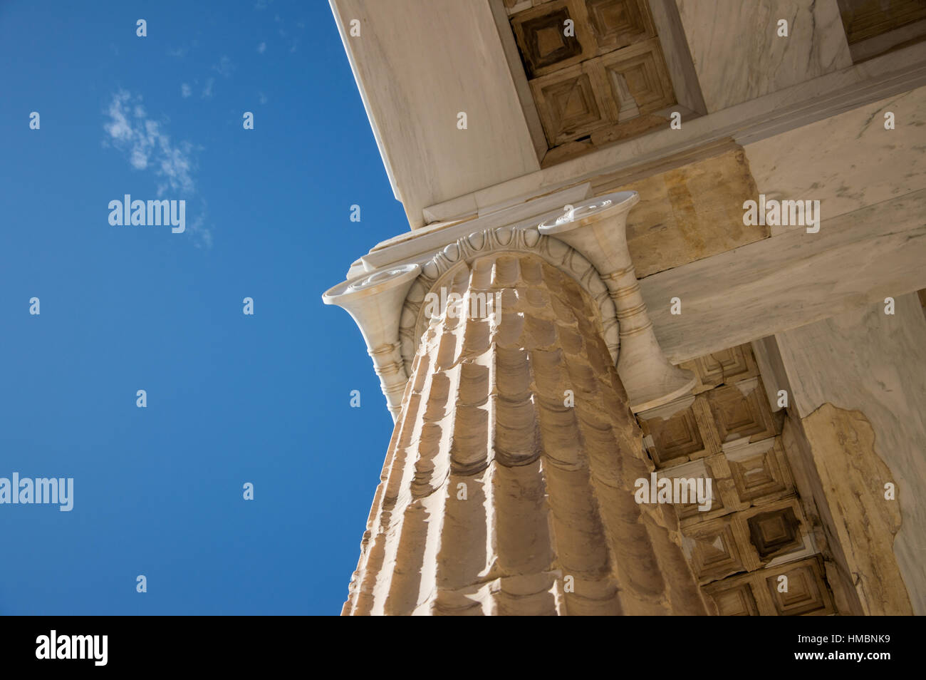 Propylaea Acropolis Athens Greece - Stock Image