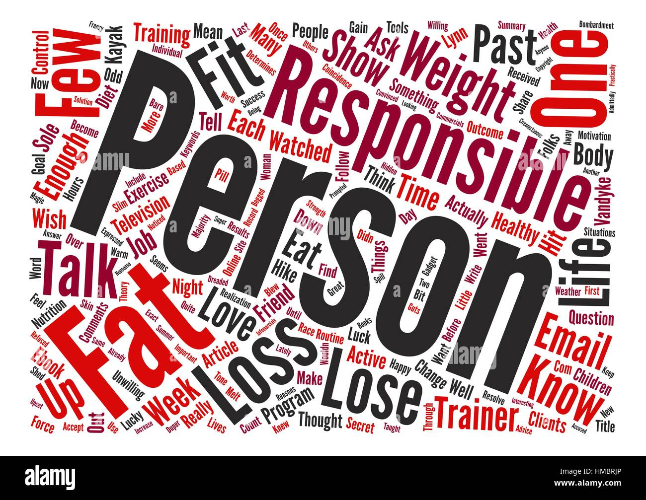 Are You Responsible Enough to Lose Fat text background word cloud concept - Stock Vector