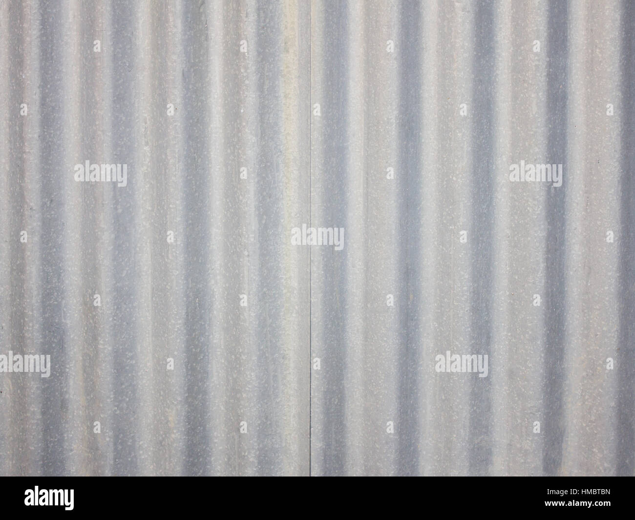 Corrugated galvanized sheet stell texture for background - Stock Image