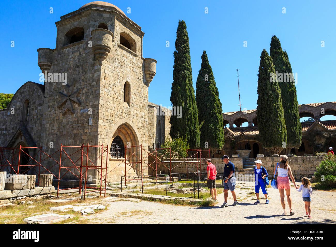 Filerimos monastery, rhodes, greece - Stock Image
