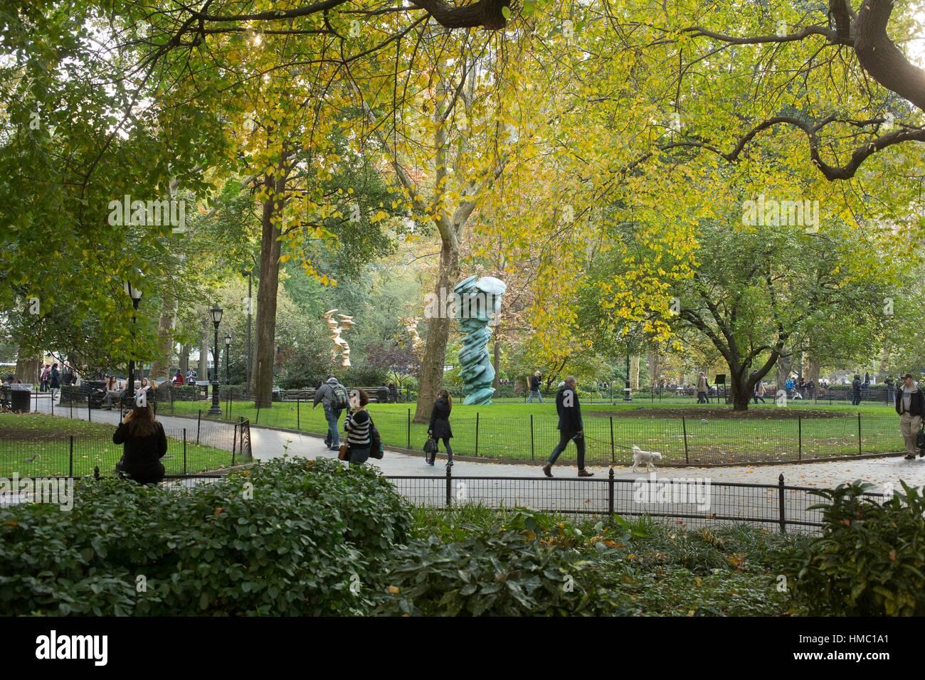 Madison Square Park, Fifth Avenue, New York, NY, USA Stock Photo