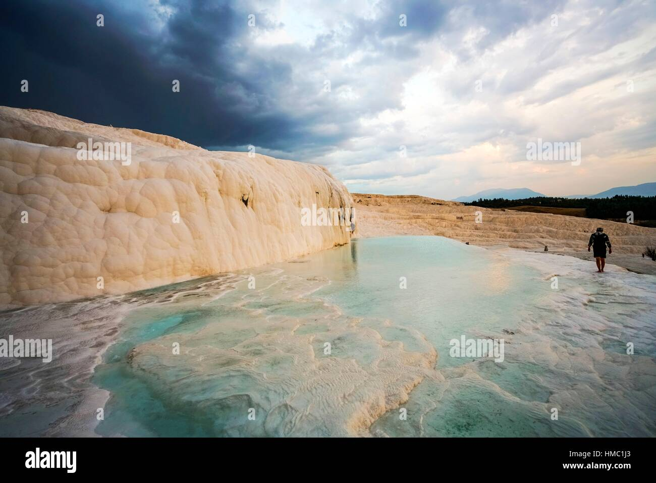 Pamukkale thermal waters. Turkey. - Stock Image