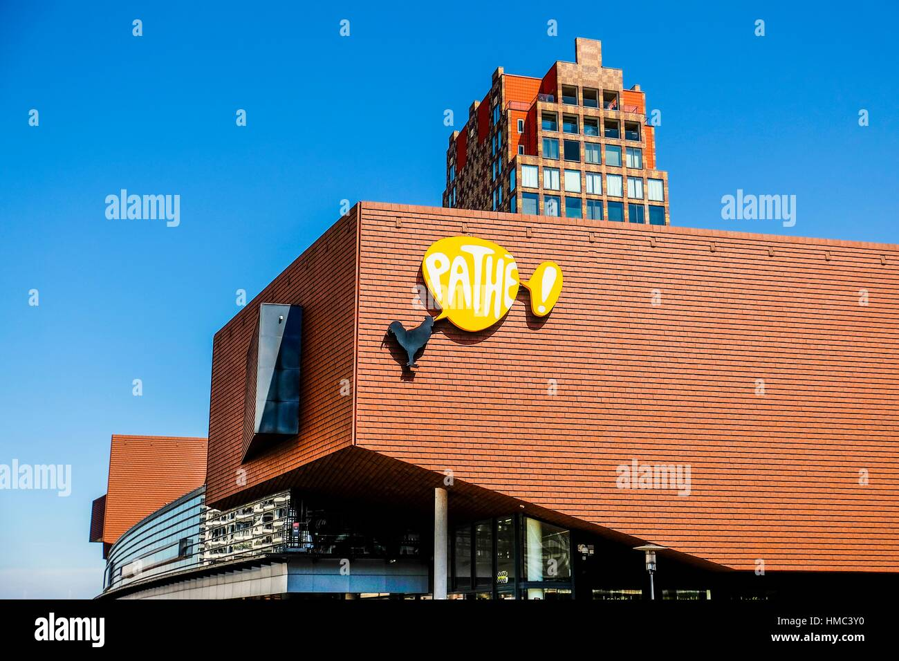 Pathe cinema at the city center masterplan by Soeters Van Eldonk architects, Zaandam, the Netherlands. - Stock Image