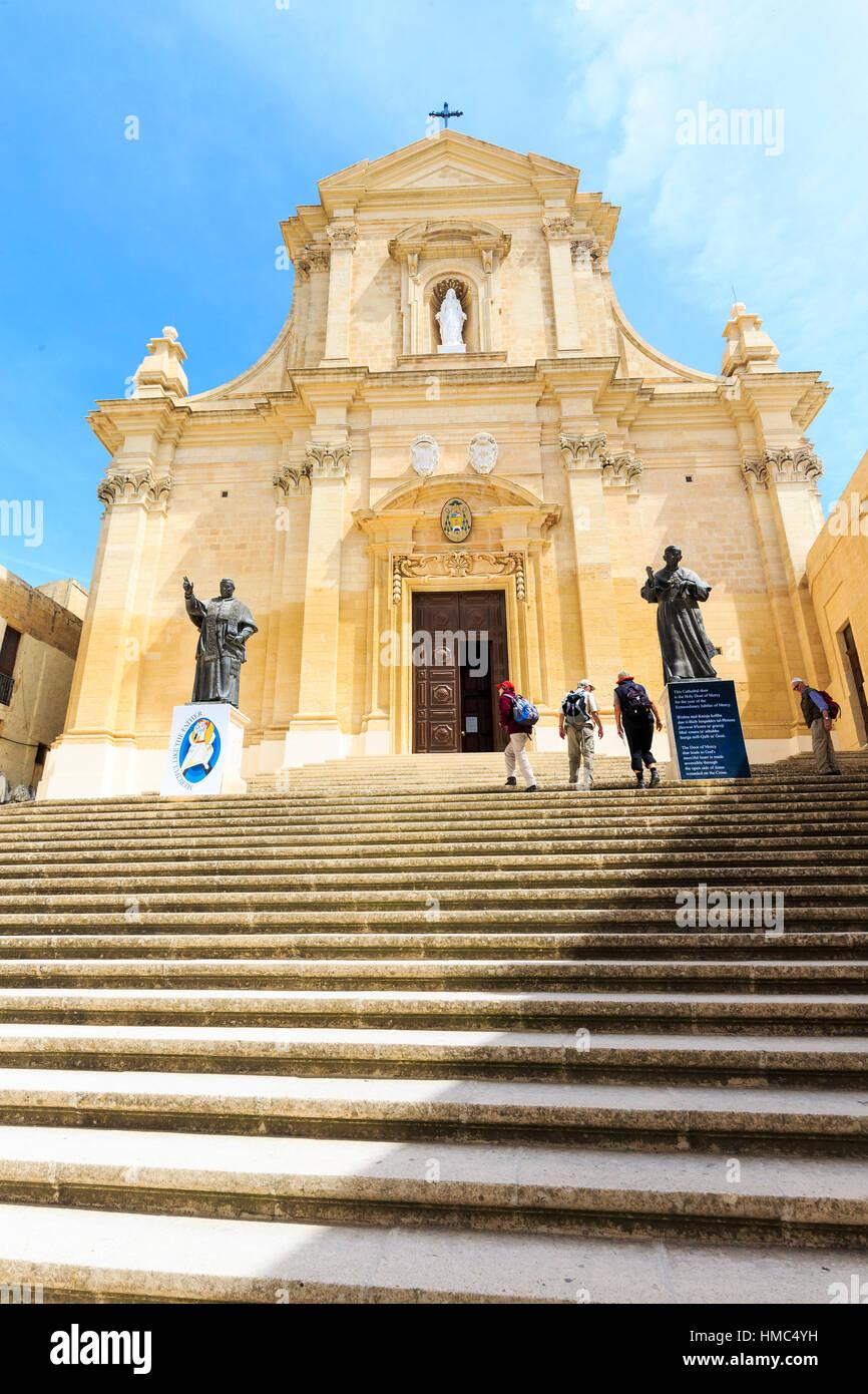 Cathedral of assumption, victoria, rabat, gozo, malta - Stock Image