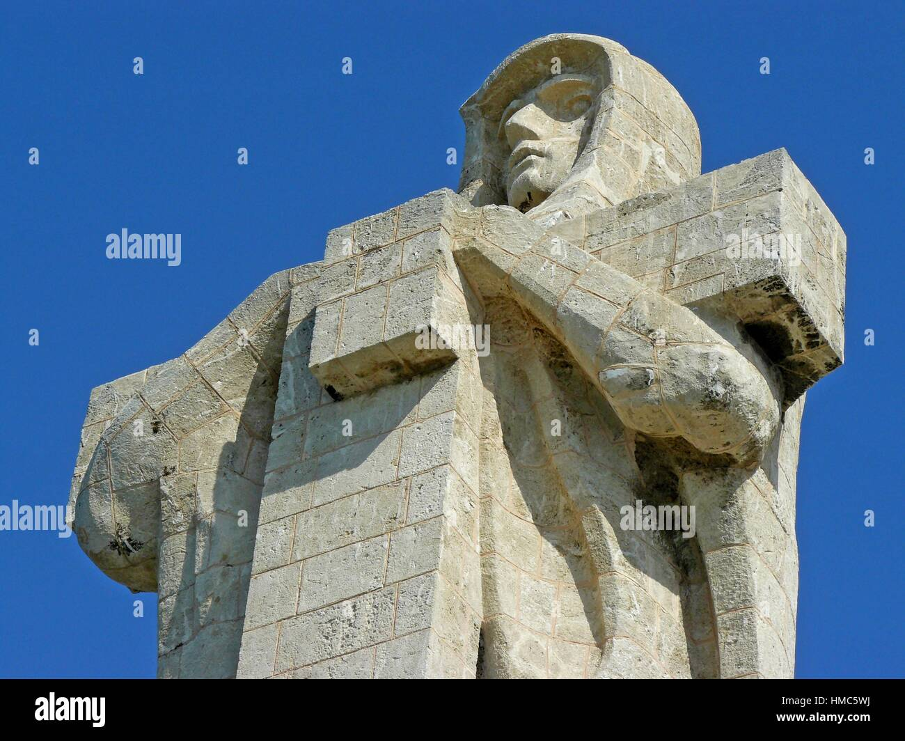 Huelva (Spain). Detail of the Monument of Faith discoverer near the city of Huelva. - Stock Image