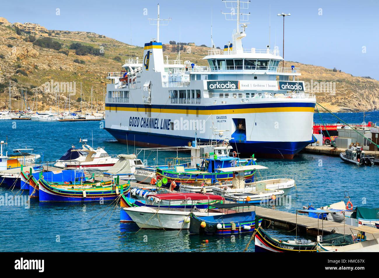 Gozo ferry, Mgarr, gozo, malta - Stock Image