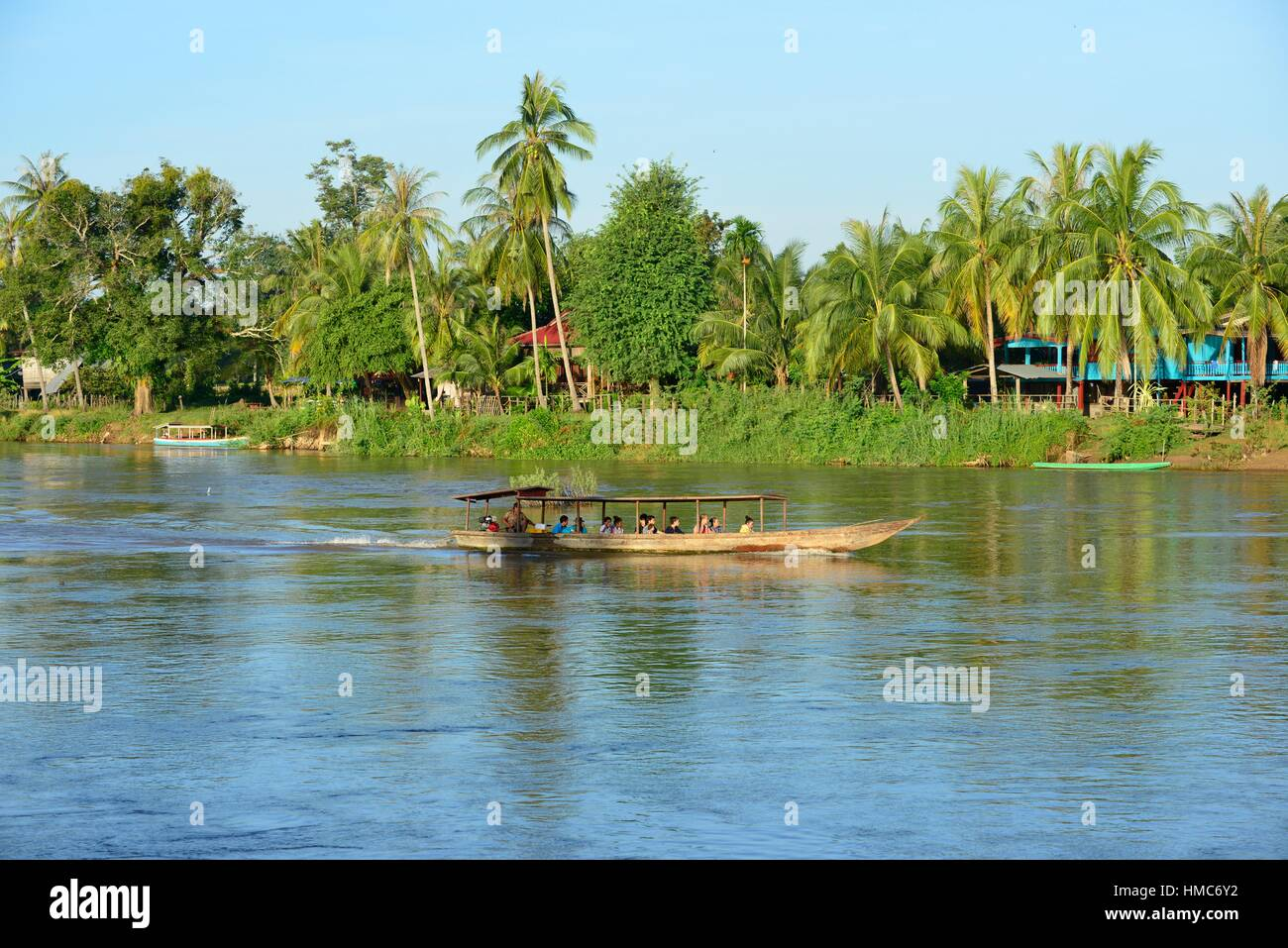 The Mekong river in Don Khon, Laos, South East Asia. - Stock Image