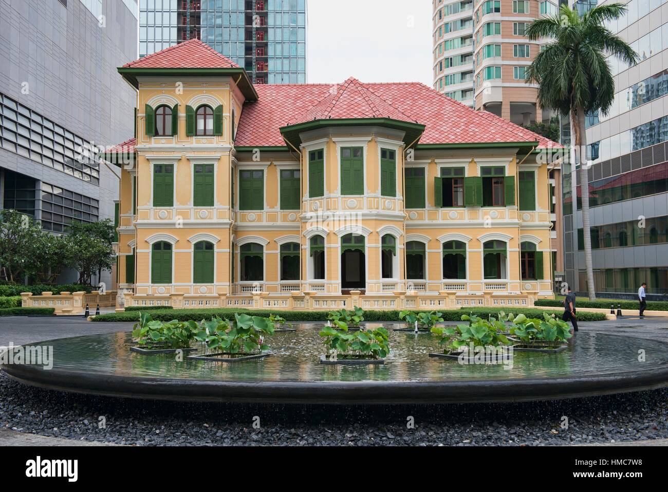 The beautiful colonial House on Sathorn Bangkok Thailand Stock