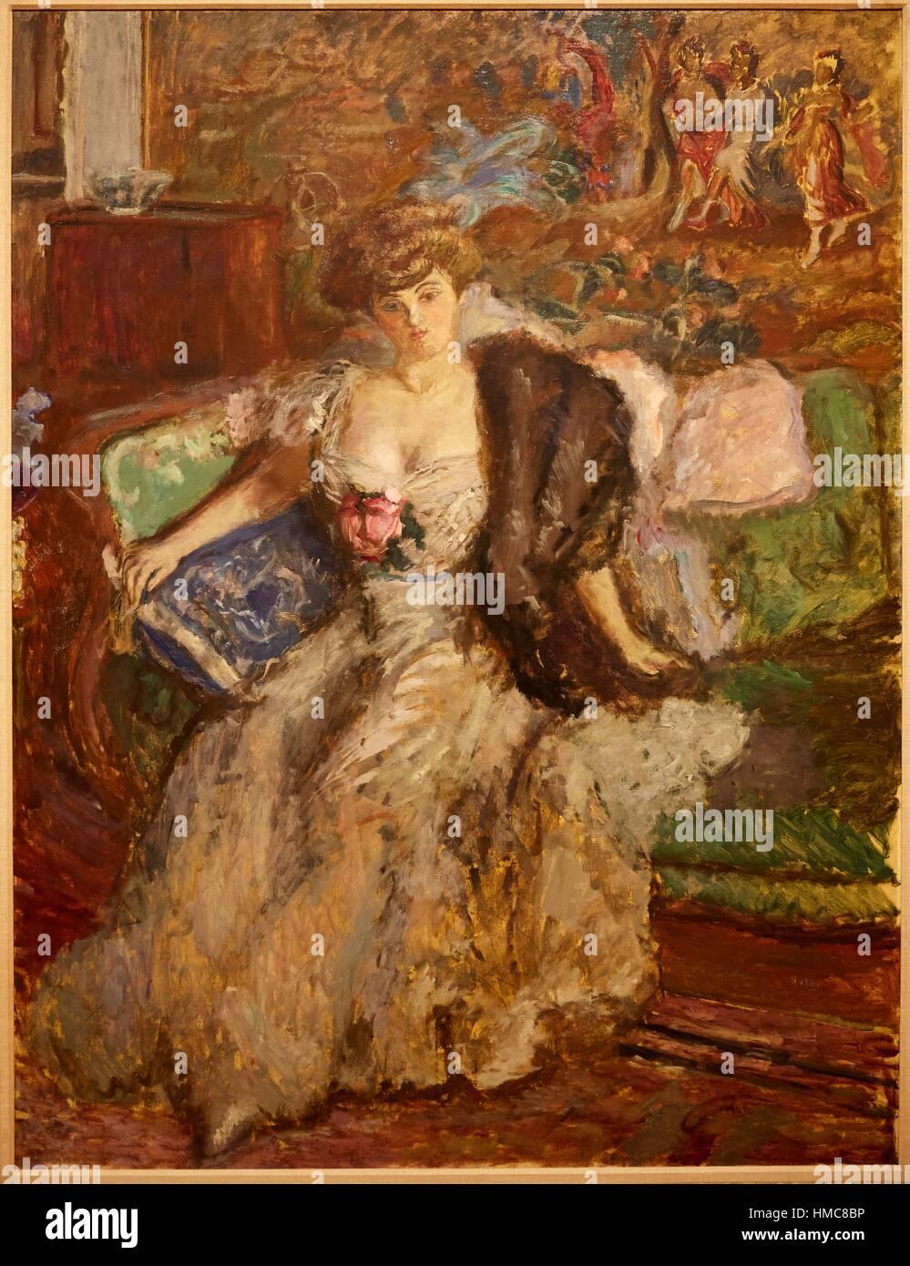 '''Misia Godebska'', 1908, Pierre Bonnard, Thyssen-Bornemisza Museum, Madrid, Spain - Stock Image