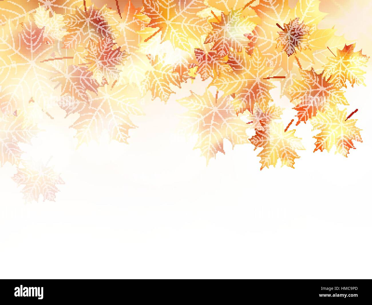 Beautiful autumn background with maple leaves. plus EPS10 vector file - Stock Vector