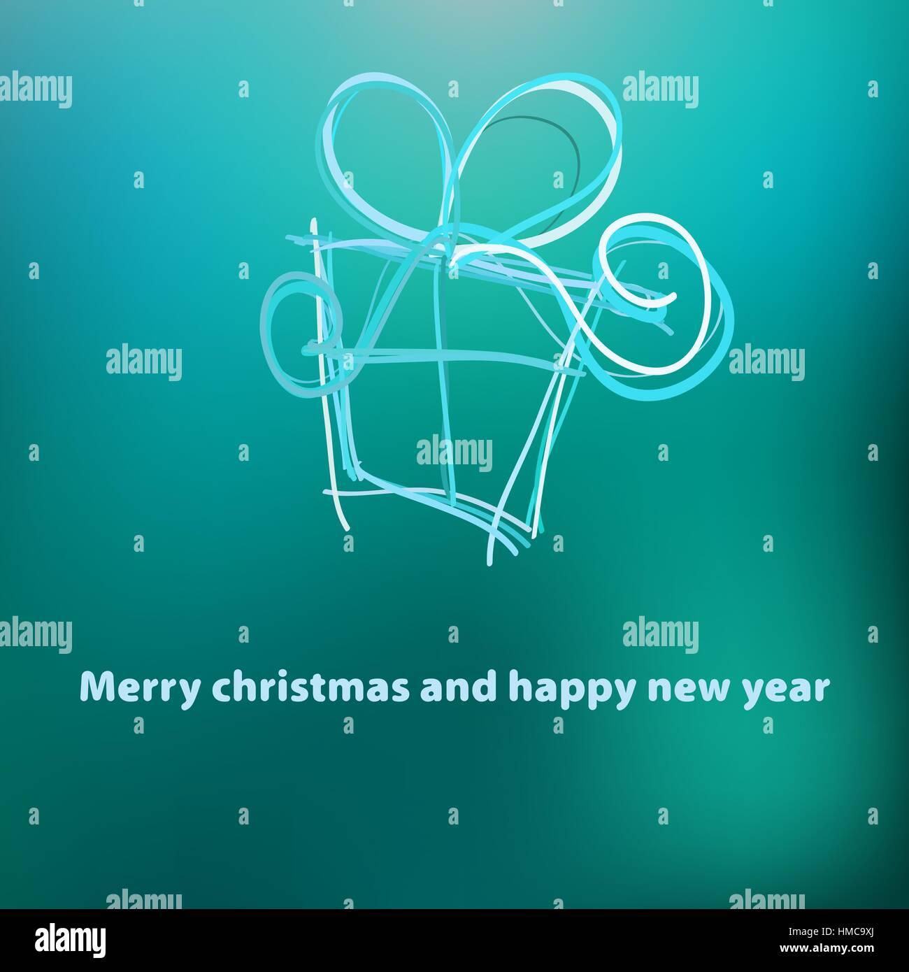 Christmas card template design.  + EPS8 vector file Stock Vector