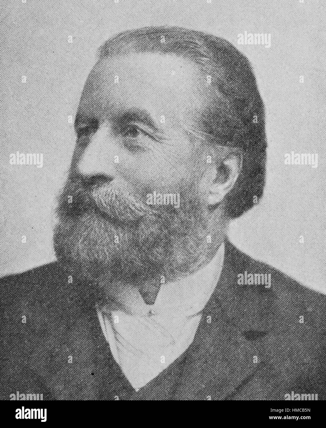 Ernst von Bergmann, 16 December 1836 - 25 March 1907, was a Baltic German surgeon. He is a pioneer of aseptic surgery., - Stock Image