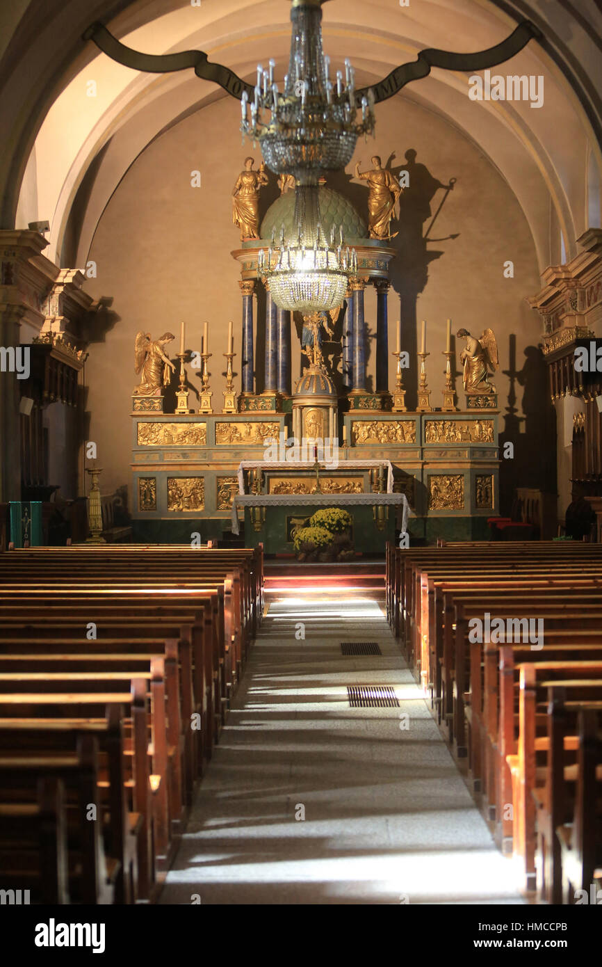 Préféré Église Saint Michel De Chamonix Mont Blanc Stock Photos & Église @KX_75
