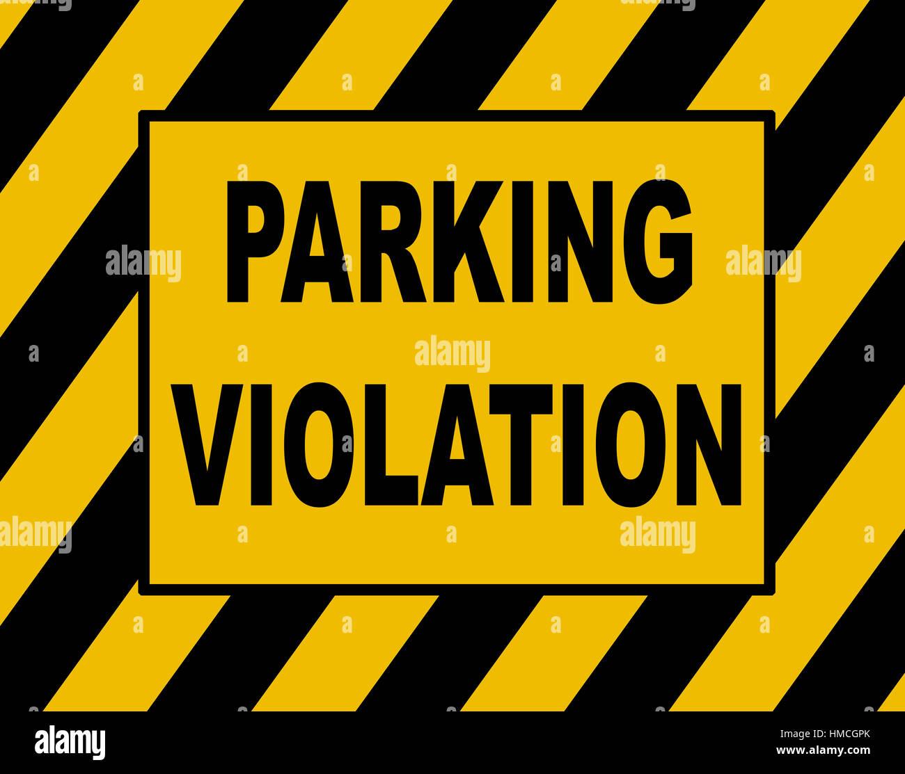 Parking fine notice, parking violation. - Stock Image