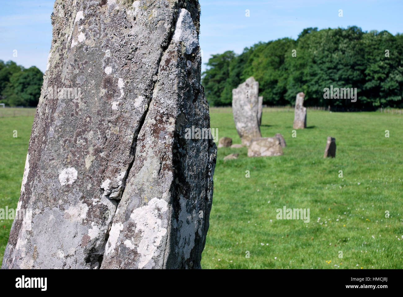 standing stones in Scotland - Stock Image